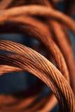 Câbles cuivre tressés photographie stock libre de droits
