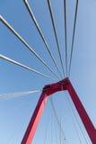 Câbles d'acier de suspension de pont Photo libre de droits