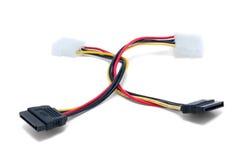 Câbles d'alimentation d'énergie ATA séquentiels Photos libres de droits
