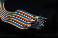 Câbles d'arc-en-ciel Photographie stock libre de droits
