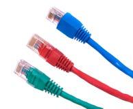 Câbles d'Ethernet d'isolement Images stock