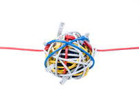 Câbles d'Ethernet d'isolement sur le blanc Images libres de droits