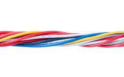 Câbles d'Ethernet d'isolement sur le blanc Photo stock