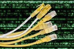 Câbles d'Internet Photos stock