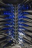 Câbles d'un serveur Image stock