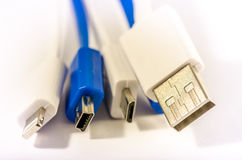 Câbles d'USB Image libre de droits