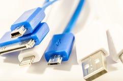 Câbles d'USB Photographie stock
