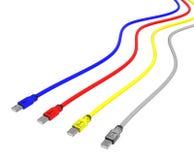 Câbles d'usb de CMYK Image stock