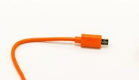 Câbles d'USB pour différents dispositifs de technologie de connexion Image stock