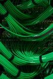 Câbles de boîte de vitesses de données Images stock