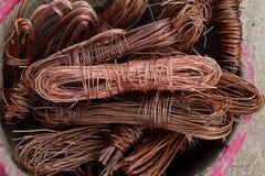 Câbles de câblage cuivre Image stock