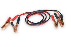 Câbles de cavalier d'isolement sur le fond blanc Photo libre de droits