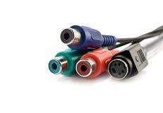 Câbles de couleur Photo stock