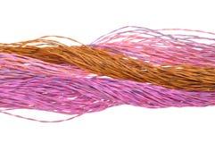 Câbles de couleur de réseau informatique Image libre de droits