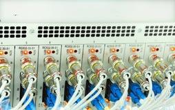 Câbles de fibre photos libres de droits