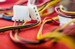 Câbles de PC Photographie stock libre de droits