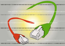Câbles de réseau Photos libres de droits