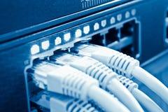 Câbles de réseau au pivot Photographie stock