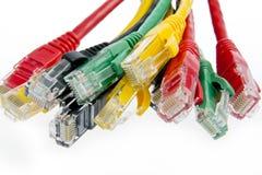 Câbles de réseau de couleur image libre de droits