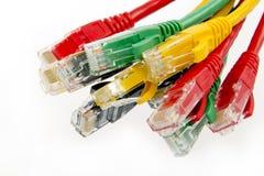 Câbles de réseau de couleur image stock