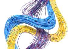 Câbles de réseau de télécommunication Images stock