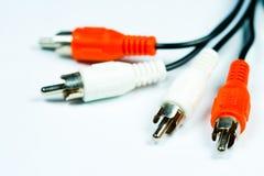 Câbles de RCA Image libre de droits
