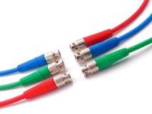 Câbles de RVB BNC Photo stock