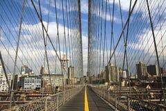 Câbles de suspension de la passerelle de Brooklyn Photos libres de droits