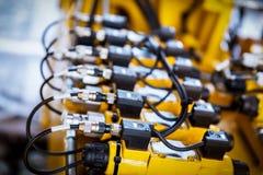 Câbles et cordes Dispositif électrique Photographie stock