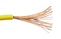 Câbles et fils exposés Photo libre de droits