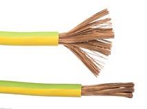 Câbles et fils exposés Photos stock