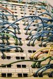 Câbles et pivots de réseau Photographie stock libre de droits