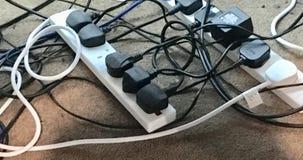 Câbles malpropres image libre de droits