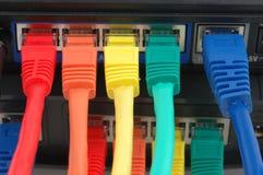 Câbles multi de couleur connectés Image libre de droits