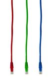 Câbles multicolores d'Internet d'ordinateur Photo stock