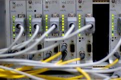 Câbles séquentiels et fibe optique Image libre de droits