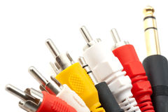 Câbles sonores et visuels Photo libre de droits