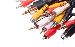 Câbles sonores et visuels Photographie stock libre de droits