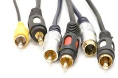 Câbles sur le blanc Photos stock