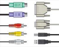Câbles visuels sonores d'ordinateur Photographie stock