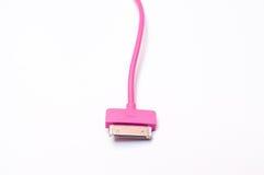 Câbleur rose de téléphone portable d'isolement Images stock