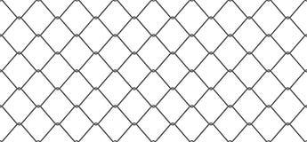 Câblez le fond de papier peint d'isolement par barrière de maillon de chaîne de vecteur de Mesh Seamless Pattern illustration libre de droits