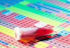 Câmara de ar de teste com sangue fotografia de stock royalty free