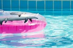Câmara de ar redonda inflável cor-de-rosa Imagens de Stock