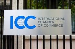 Câmara de comércio internacional Fotografia de Stock