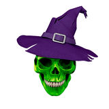 Câmara de Dia das Bruxas da arte de Digitas dos crânios Fotos de Stock Royalty Free