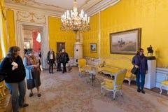 Câmara de Rokoko, Albertina Museum em Viena fotografia de stock