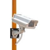 Câmara de segurança do CCTV com a instalação imagem de stock