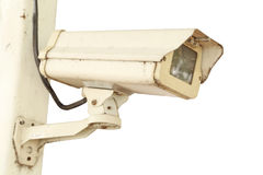 Câmara de segurança do CCTV no fundo branco Imagem de Stock Royalty Free