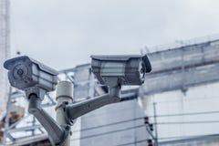 Câmara de segurança exterior do CCTV Foto de Stock Royalty Free